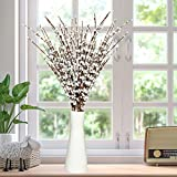 Rocinha 10 Pcs 29.5'' Long Jasmine Artificial Flowers Jasmine Fake Flowers Faux Jasmine Plant for Wedding Home DIY Floral Art Party Restaurant Hotel Office Decoration (White)