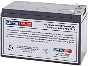 High Rate Powersonic PSH-1280F2FR - 12 Volt 8 Amp Hour Sealed Lead Acid Replacement Battery w/ 0.250 Fast-on Connector Flame Retardant Case