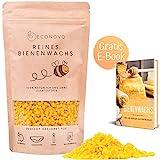 Econovo® 100% natürliches Bienenwachs ohne Zusätze - 200g gelbe Bienenwachs Pastillen vom Imker für Kosmetik, Bienenwachstücher, Kerzen, Holz- und Lederpflege (inkl. E-Book mit Rezepten)