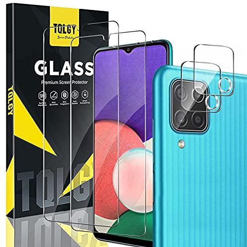 TQLGY - 2 protectores de pantalla para Samsung Galaxy A22 5G con...