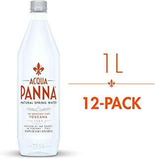 Acqua Panna Natural Spring Water, 33.8 Oz Plastic Bottles (12 Pack)