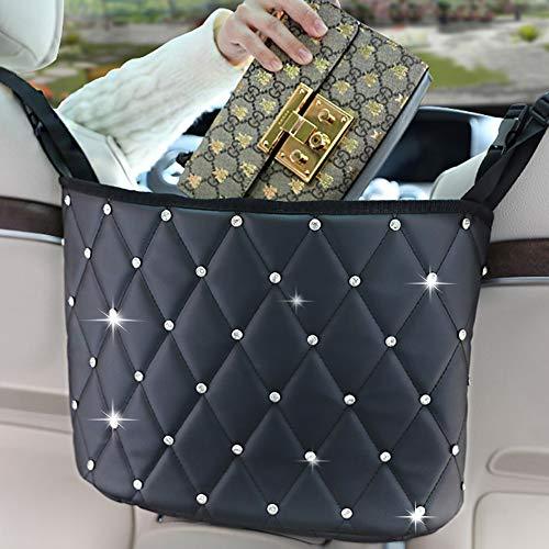 Car Handbag Holder Bag Between Seats Storage&Pocket Holder for Car,Leather Seats Back Organizer Large Capacity Bag for Purse Storage Phone