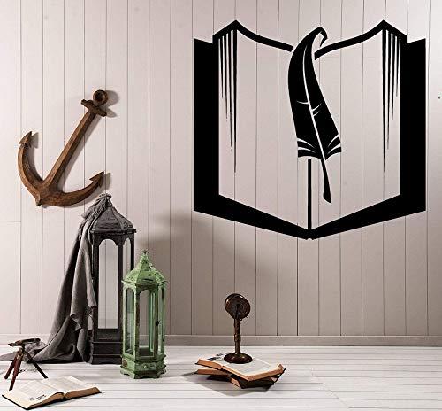 yaonuli Boeken en bladwijzers vinyl muurtattoos school bibliotheek klaslokaal studie kinderkamer familie decoratie muursticker