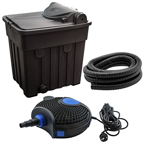 JAD YT-03 - Teichfilter-Set für Teiche bis 25000L: inkl. UV-Filter, Pumpe, Schlauch und Zubehör, Filtersystem UVC 18 Watt Teichpumpe 2500l/h