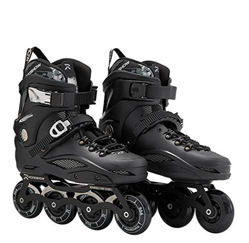 Comeon InlineSkates - Black/White Performance Inline Skates for Mens Adult Women Fitness Inline Skate (Black,40)