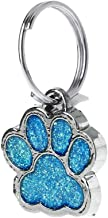 Richi Pet Collar Tag Paw Shape Dog Cat ID Tag Keychain with Ring