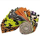 Fabric Editions Holiday Halloween Party Strip 20 Pcs Stoff,