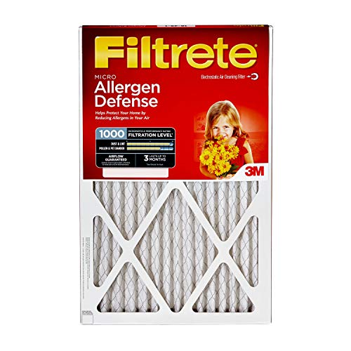 Filtrete 16x25x1, AC Furnace Air Filter, MPR 1000, Micro Allergen Defense, 4-Pack