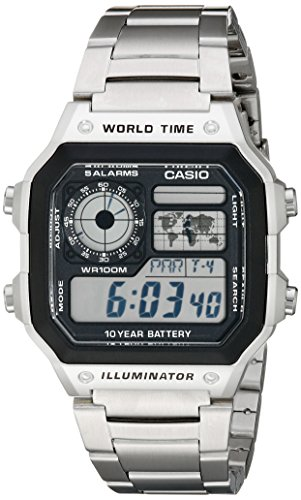 Reloj Casio World Time para Hombres 40mm, pulsera de Acero Inoxidable