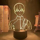 Anime Haikyuu Hinata Shoyo Sugawara Koushi Kageyama Tobio Figura 3D Luz de Noche Lámpara con Sensor de Movimiento 3D Ilusión Luz Regalo