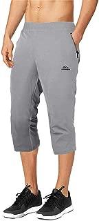 BIYLACLESEN Men's Outdoor Performance Three-Quarter Jogger 3/4 Capri Pants