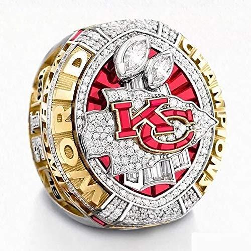 Fan-Souvenirs-Replik-Ringe 8-14 Größe, 2019/2020 Kansas City Chiefs Championship-Replik-Ring mit Holzkiste 13#