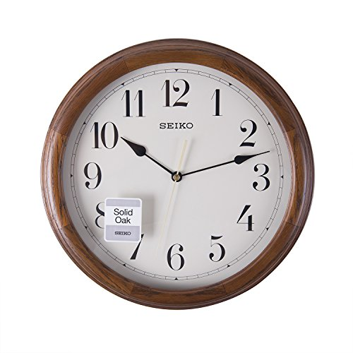 Seiko Wall Clock (32 cm x 32 cm x 4 cm, Brown, QXA153BN)