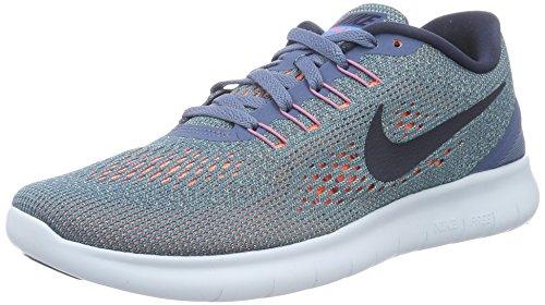 Nike Damen Laufschuhe Laufschuhe Wmns Free Rn, Mehrfarbig (Ocean Fog/Midnight Navy-Hyper Turq), Gr. 40 EU (6 UK)
