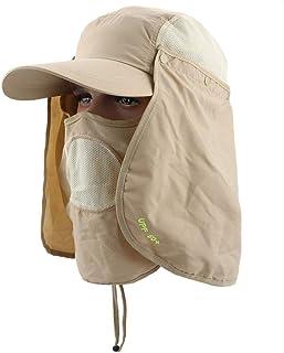 Women'S Foldable Sun Hat Uv Protection Wide Brim Sun Hat Face Neck Protection Summer Hat Beach Dual