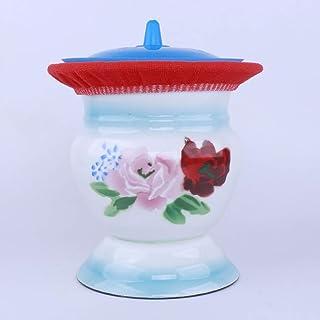 Lxrzls Pregnant Women Toilet Bucket Enamel Urinal Basin Female Urine Buckets Bedpan Urinal Basin Chamber Pot Urinals (Color : Blue)