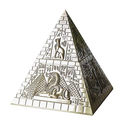 JenLn Pirámide de Estilo Europeo Conjunto de joyería de la Caja de Metal de Estilo Egipcio Manualidades Adornos Decoraciones caseras Caja de Almacenamiento de Joyas de baratijas Peque