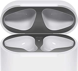 elago Dust Guard for AirPods [Matte Space Grey][1 Set] - [Chromium Plating][Protect AirPods from Iron/Metal Shavings][Luxurious Looking][Must Watch Installation Video]