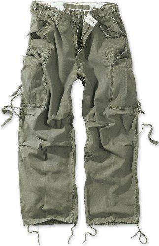 Surplus Herren Vintage Fatigue Trousers Hose, Grün (Oliv gewaschen), W33/L32 (Herstellergröße: S)