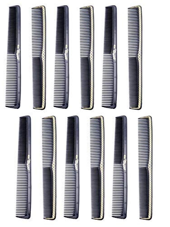 風が強いたらい問い合わせ7 inch All Purpose Hair Comb. Hair Cutting Combs. Barber's & Hairstylist Combs. Black With Gold. 12 Units. [並行輸入品]