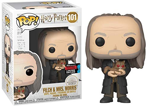 POP! Funko Movies: Harry Potter - FILCH & MRS. Norris - NYCC 2019 Fall Convention Exclusive image
