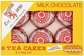 Tunnock's Milk Chocolate Tea Cakes 6 x 24g (Case of 12 - Bulk Buy)