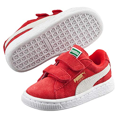 Puma Suede 2 Straps Inf, Sneaker Basse Unisex-Bambini, Rosso (Rot-Rouge (High Risk Red/White), 25 EU