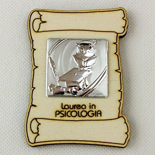 DLM25231 Calamita Magnete Pergamena Laurea in Psicologia (Kit 12 Pezzi) bomboniera