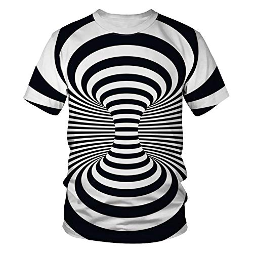 3D Shirt Herren Lustig Dasongff Unisex 3D Druckten Whirlpool Drucken Kurze Hülsen-T-Shirts T-Stücke Sport Fitness Rundhalsausschnitt Lässige Tees