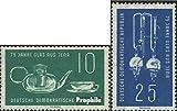 Prophila Collection DDR (RDA) 713-714 (Completa.edición.) 1959 75 años Jena Las fábricas de Vidrio (Sellos para los coleccionistas) Vidrio / Cerámica / Porcelana
