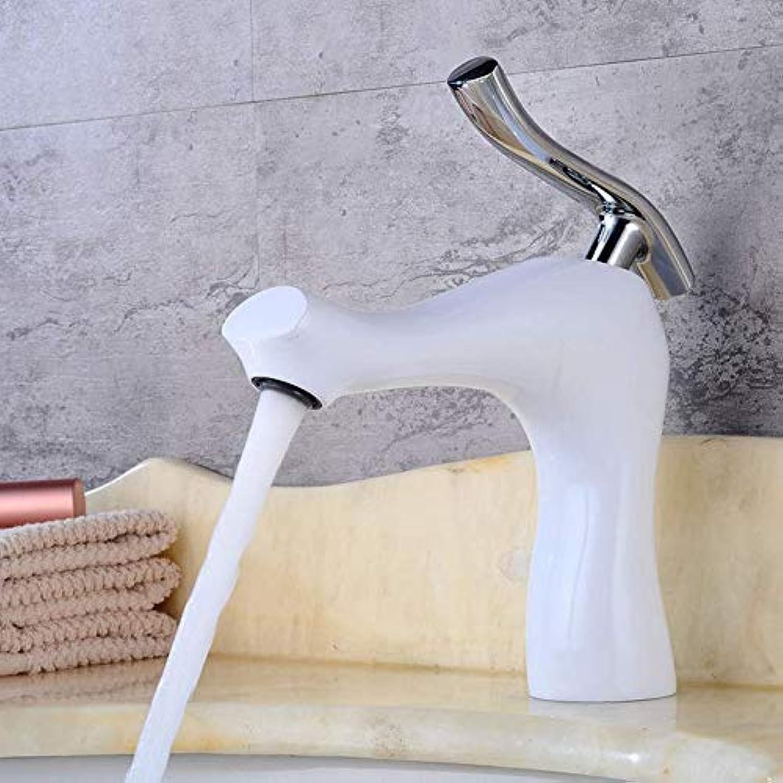 Wasserhahn Bad Waschbecken Wasserhahn Einzigartiges Design Wei Lackiertem Messing Waschbecken Wasserhahn Waschbecken Mischer Kupfer Waschbecken Wasserhahn