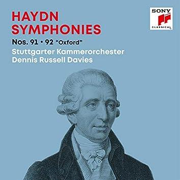 "Haydn: Symphonies / Sinfonien Nos. 91, 92 ""Oxford"""