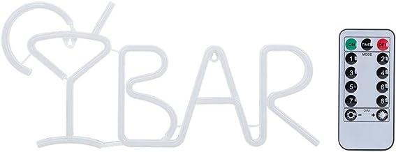 Fdit Bar bokstäver formad LED neon ljus skyltning ljus för fest bar heminredning bordsdekoration med fjärrkontroll (blå)