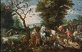 Brueghel The Younger Jan Entrada al Arca de Noé Rompecabezas Juguete de Madera Adulto Familia Amigo DIY Challenge Decoración de Pared 500 Piezas