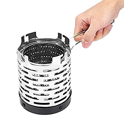 Dilwe Camping Mini Heater, Portable Stainless Steel Tent Heating Cover with Handle and Storage Bag Camping Warm Equipment