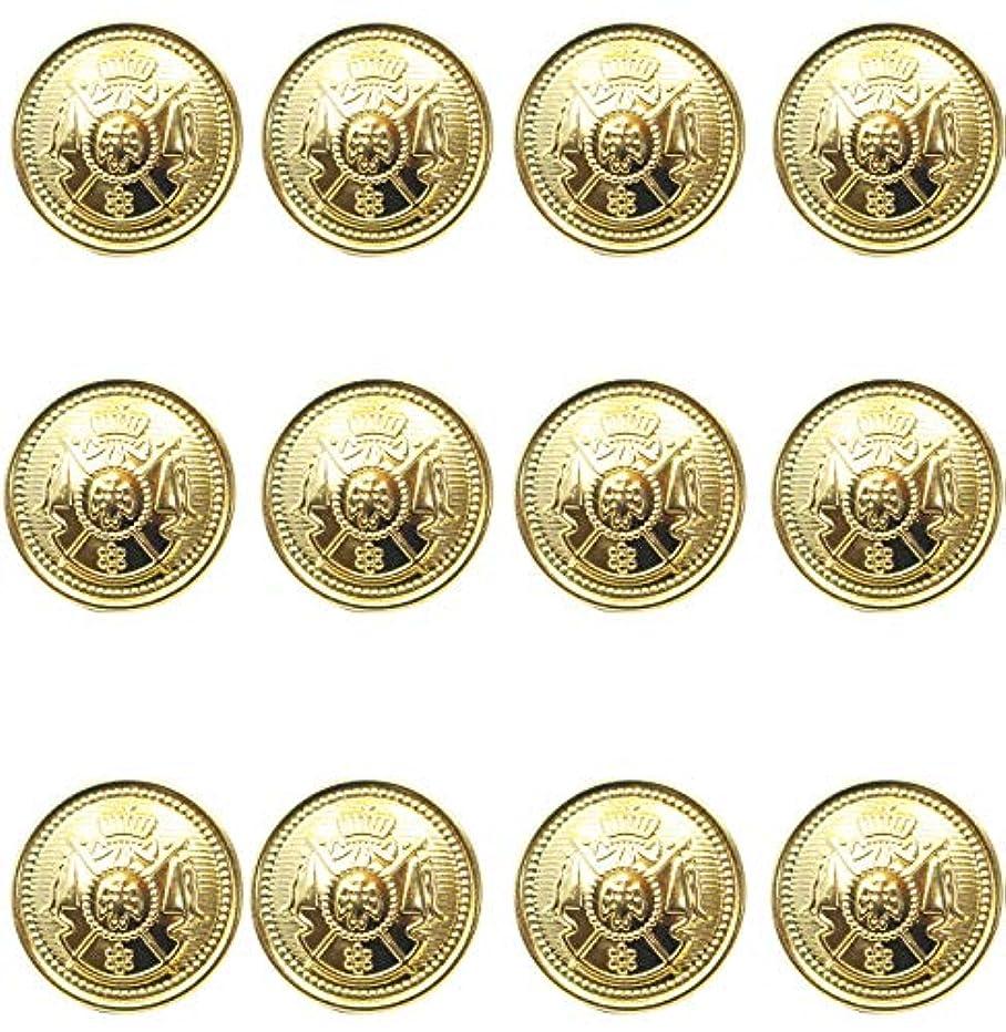 12 Piece Metal Blazer Button Set - Crown Lion- for Blazer, Suits, Sport Coat, Uniform, Jacket 25mm
