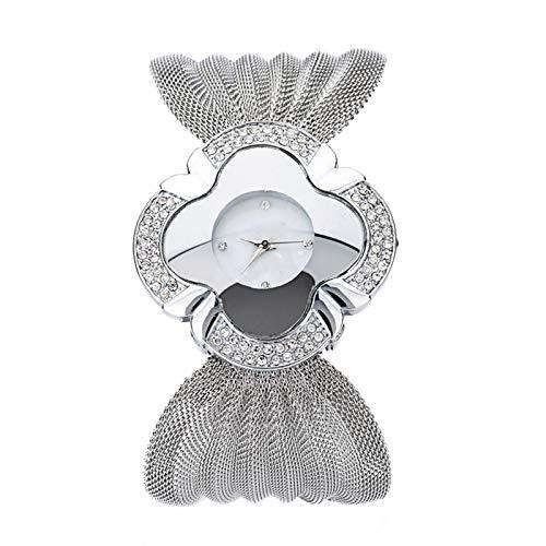 lefeindgdi Reloj de cuarzo para mujer, correa de malla, elegante mariposa dorado/plata, reloj de cuarzo, analógico, delgado, con banda de malla, esfera redonda para mujer