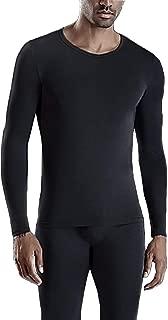 Men Thermal Underwear Set,Winter Base Layer Top & Bottom Ultra Soft Long John Set for Men Black