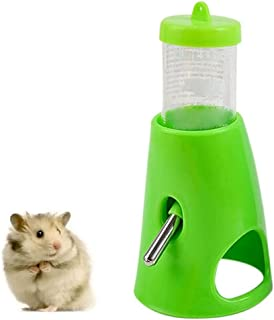B.C Pet Small Animals Hamster Hideout Drinking Waterer 2-in-1 Water Bottle with Base Hut for Small Animals PBA Free