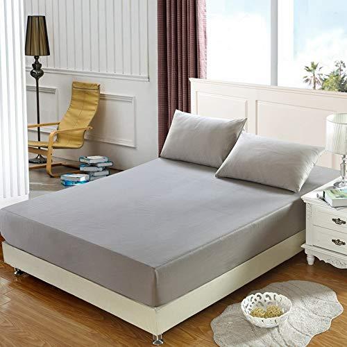 LUOYLYM 100% Baumwolle Einfarbig Spannbetttuch Streifen Matratzenbezug Four Corners Mit Gummiband Bettlaken B3180*200cm*25cm