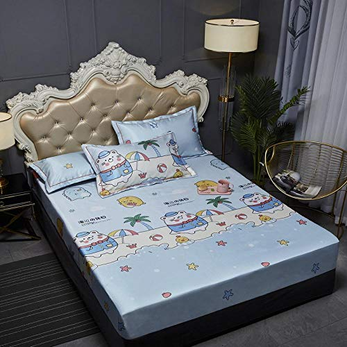 JRDTYS Super Soft Warm and Cosy Fitted Bed SheetThe bed cover is machine washable and non-slip-17_200cmx220cm+35cm