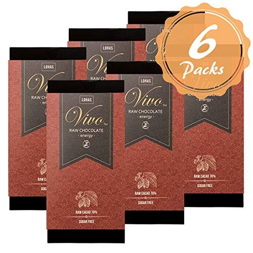 6枚セット ローチョコレートVivo エナジー マカ配合 生カカオ70% 砂糖・乳製品は一切不使用 生チョコレート