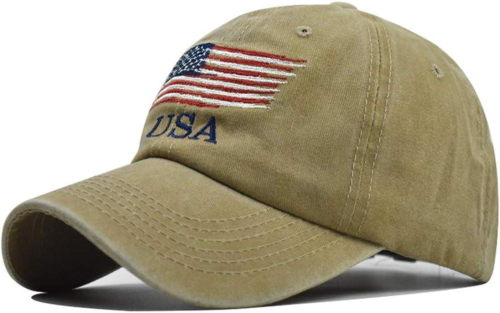 American Flag Hats Vintage Washed Distressed Cotton Dad Hat Baseball Cap Adjustable Trucker Unisex Style Headwear