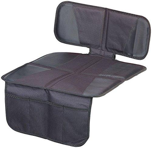 """Lescars Sitzschoner: Kindersitz-Unterlage\""""Basic\"""" fürs Auto, 3 Netztaschen, Isofix-geeignet (Kindersitzunterlage Auto)"""