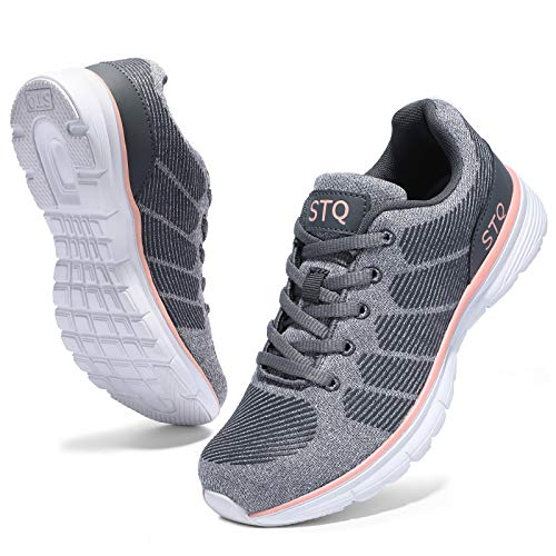 STQ Tennis Shoes for Women Arch Support Breathable...