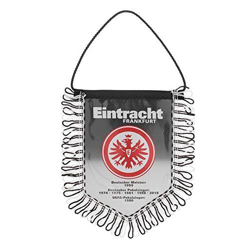 Eintracht Frankfurt Wimpel Erfolge 2018 schwarz-weiß, Auto Banner, Autowimpel SGE - Plus Lesezeichen I Love Frankfurt