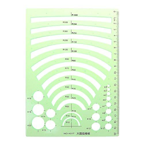 Wanfor-Studenten-Mathe-Zeichnung, die Plastikschablonen-Machthaber-Winkelmesser-grünen Plastik, Schulprodukt-Werkzeug lernt