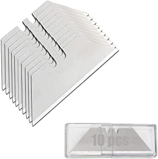 Utility Knife Replacement Blades Heavy Duty High Carbon Steel Box Cutter Razor (10 pcs)
