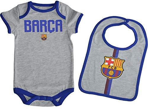 Fc Barcelone Body + Babero bebé Barça - Colección Oficial Talla bebé 12 Meses