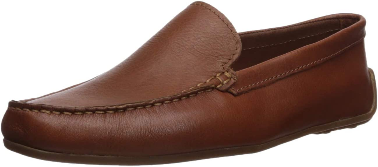 Clarks Men's Reazor Edge Driving Style Loafer, tan Leather